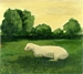 Sheep with a Yellow Sky